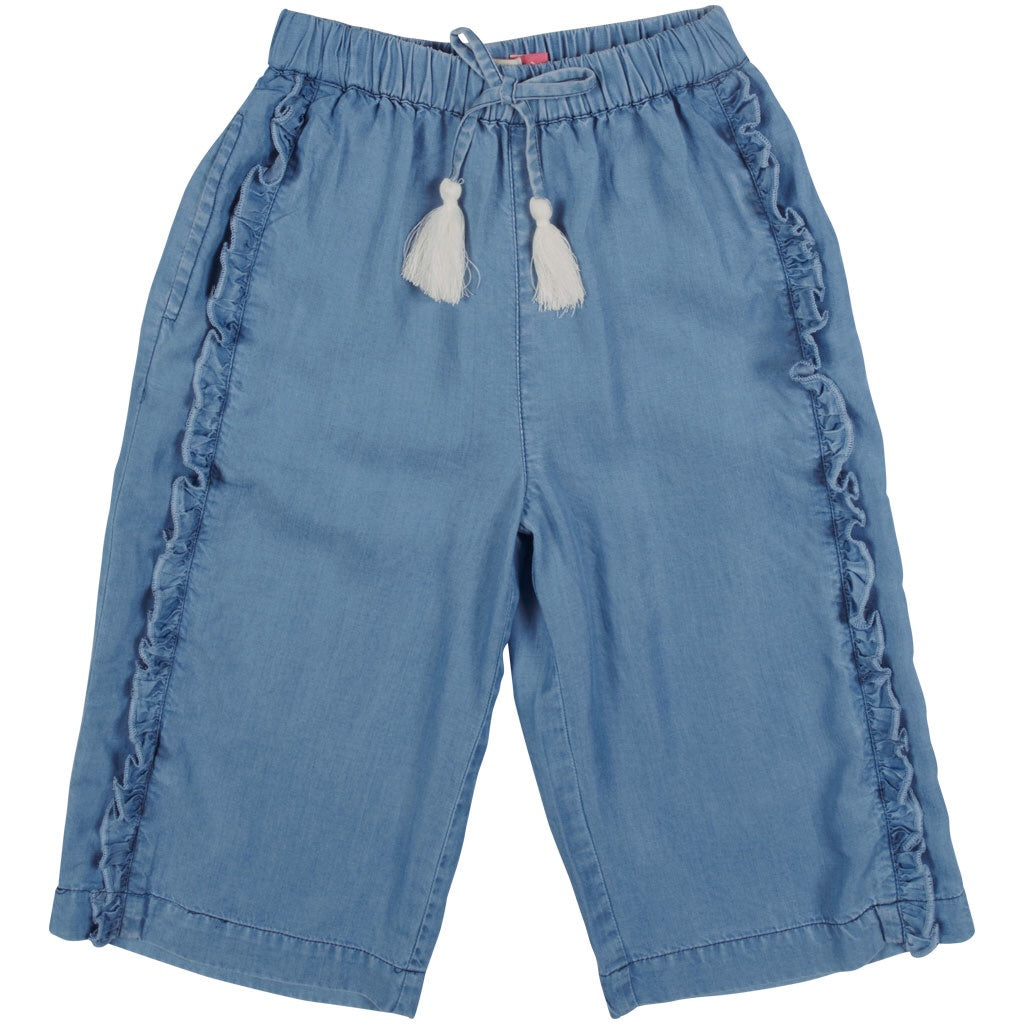 Wide Leg Denim Pants  - Doodlebug's Children's Boutique