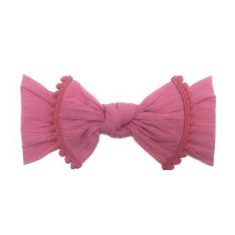 Hot Pink Trimmed Knot Headband  - Doodlebug's Children's Boutique