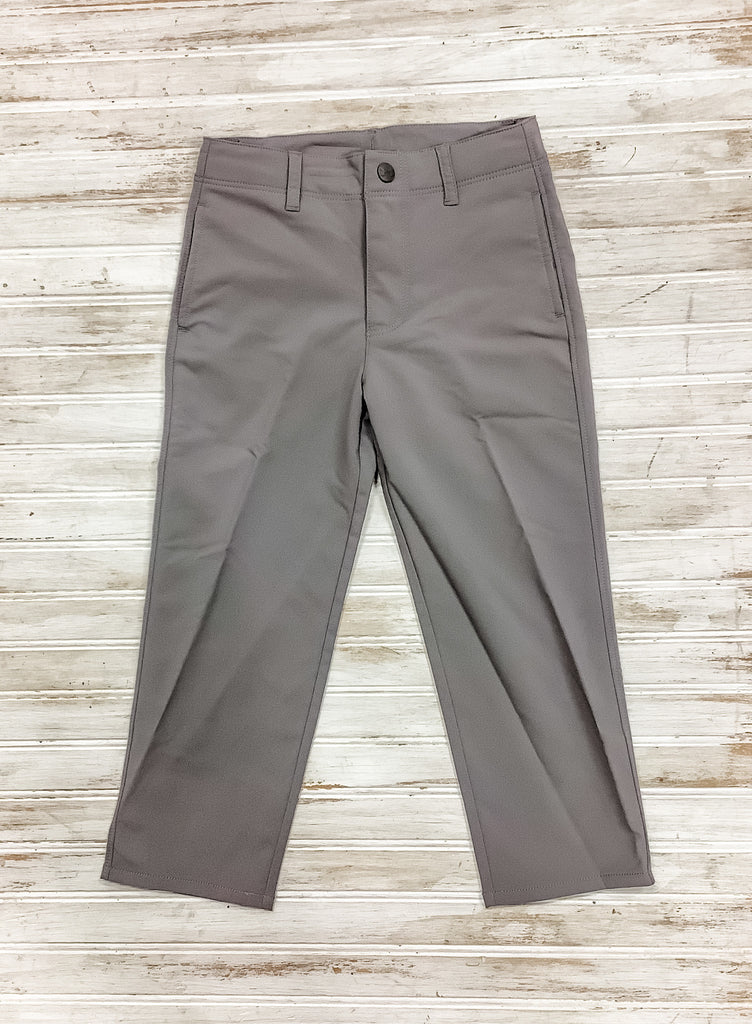 Gray Stretch Twill Pants  - Doodlebug's Children's Boutique