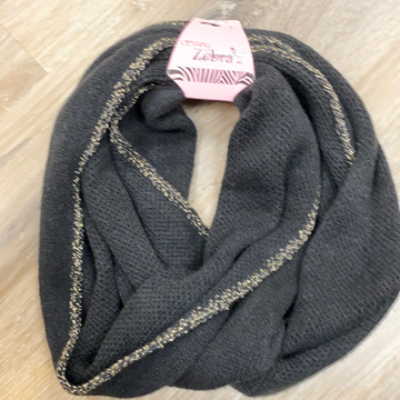 Kids Glitter Infinity Scarf in Black