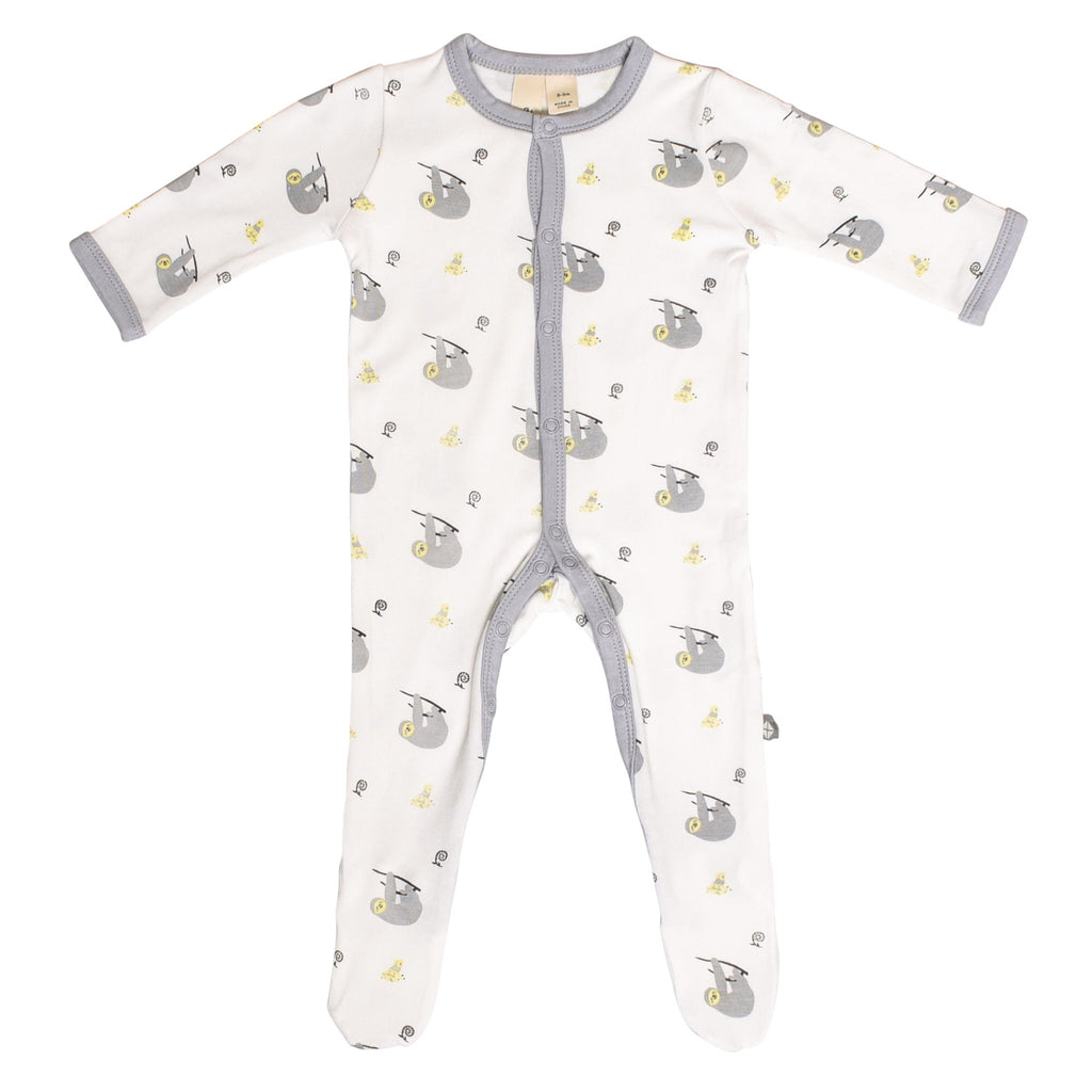 Printed Footie in Canopy Canopy / 0-3 months - Doodlebug's Children's Boutique