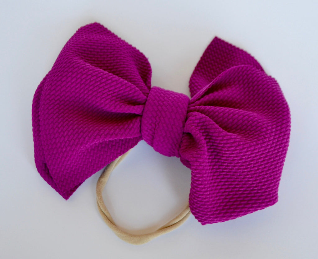 Magenta Bella Bow Magenta - Doodlebug's Children's Boutique