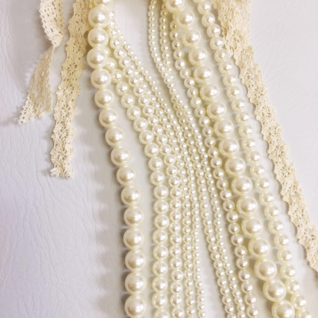 M.L. Kids 5 Strand Pearl Necklace