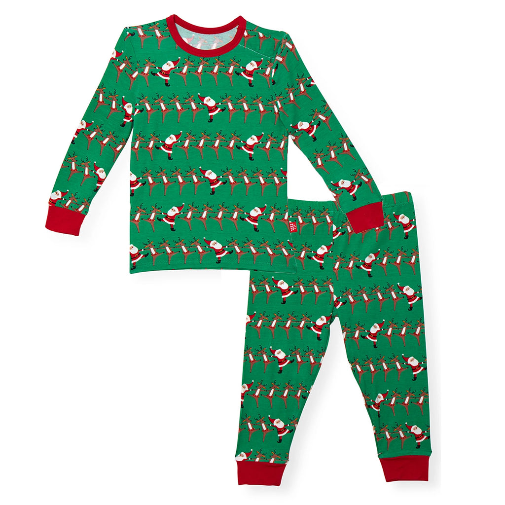 Holly Folly Jolly Magnetic 2 Piece Pajama Set  - Doodlebug's Children's Boutique