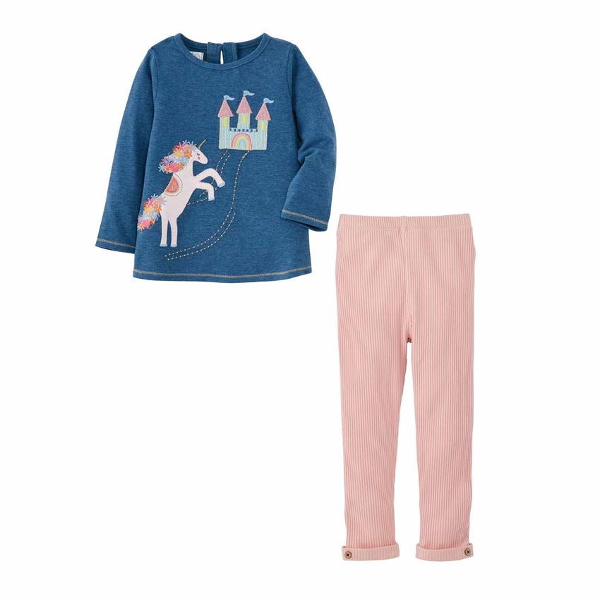 Unicorn Castle Tunic and Legging Set  - Doodlebug's Children's Boutique