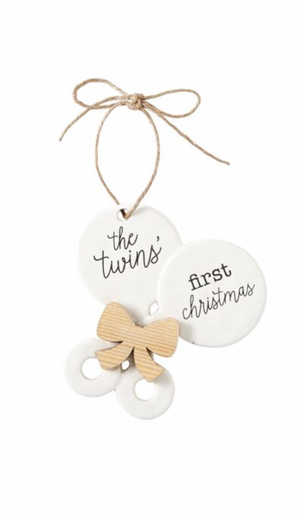 Twins' First Christmas Ornament  - Doodlebug's Children's Boutique