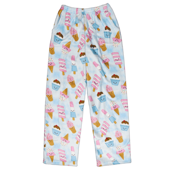 Ice Cream Treats Plush Pants  - Doodlebug's Children's Boutique