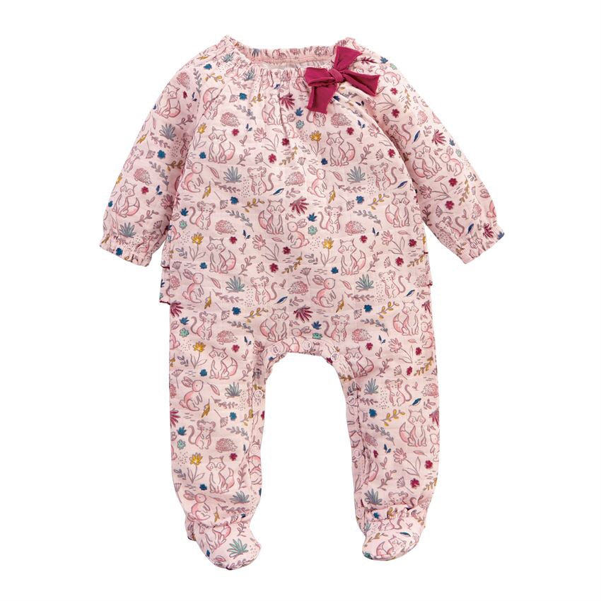 Mud Pie Pink Forest Muslin Sleeper