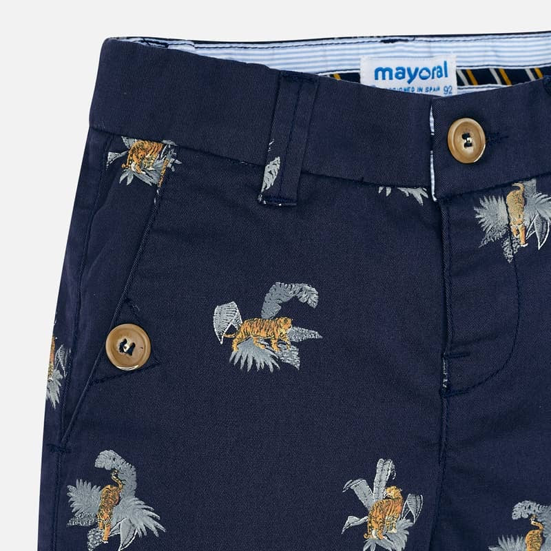 Bermuda Shorts in Ink  - Doodlebug's Children's Boutique
