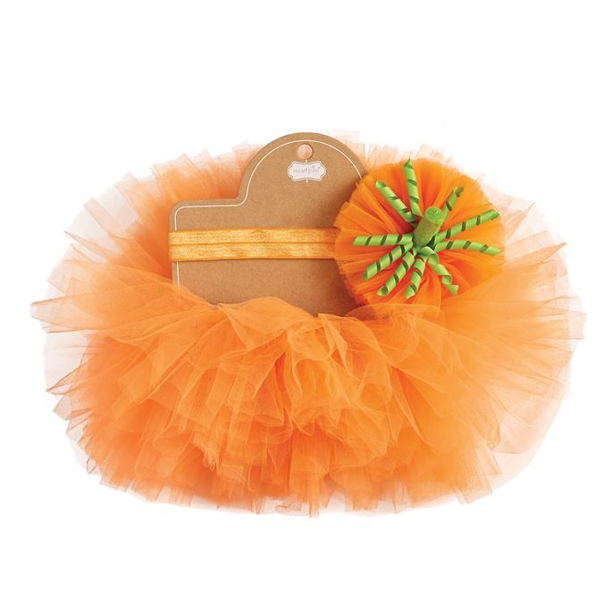 Mud Pie Pumpkin Tutu and Headband Set