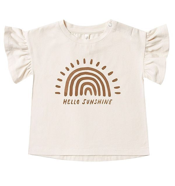 Hello Sunshine Flutter Tee  - Doodlebug's Children's Boutique
