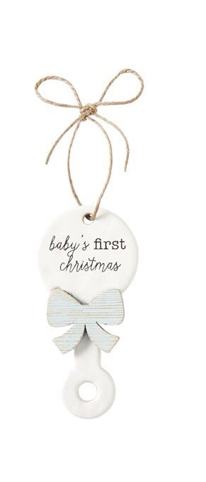 Blue First Christmas Ornament Boy - Doodlebug's Children's Boutique