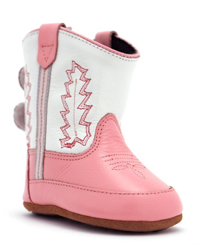 Poppets Pink Infant Boots  - Doodlebug's Children's Boutique