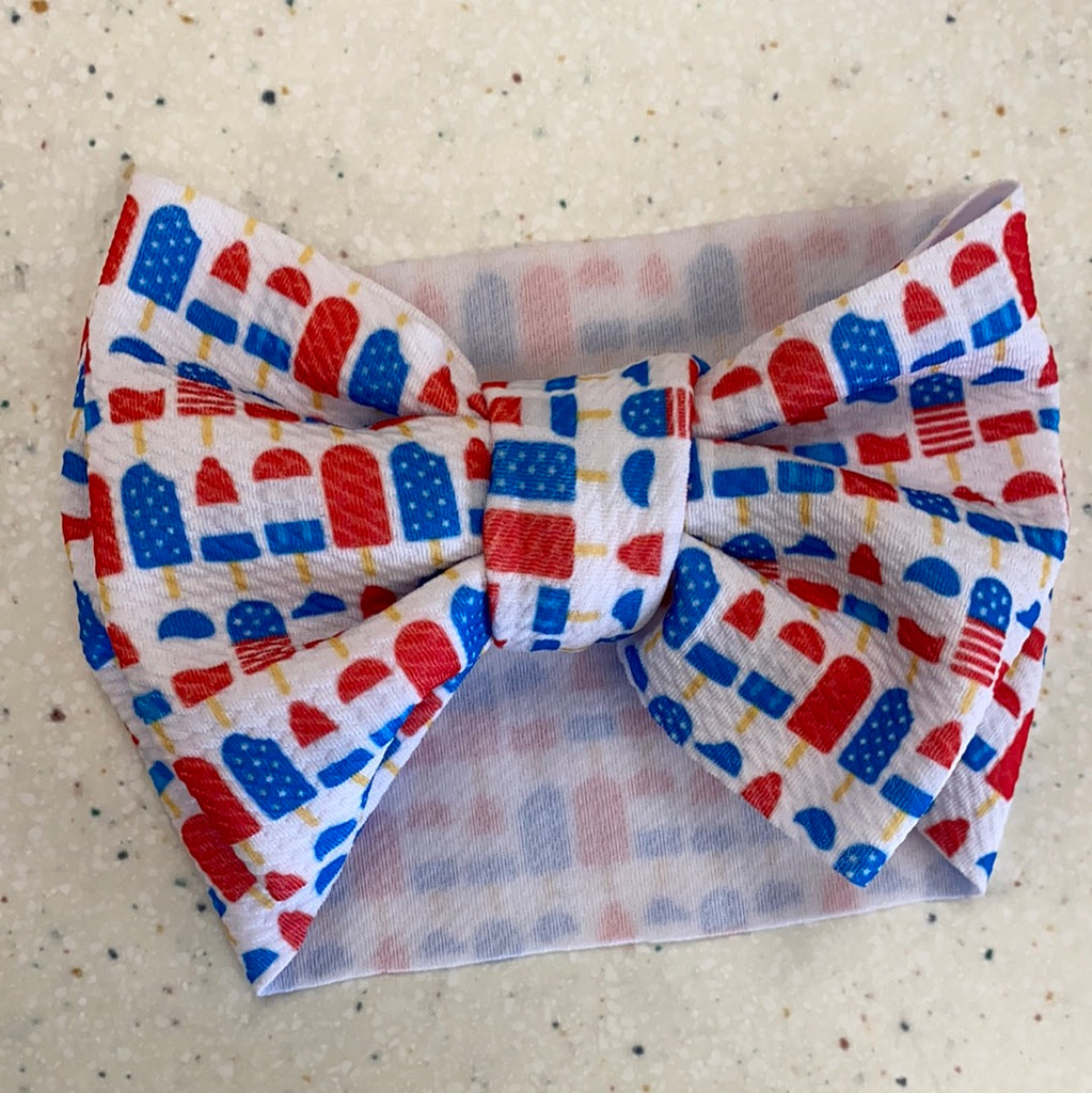 Red White and Blue Popsicles Headwrap