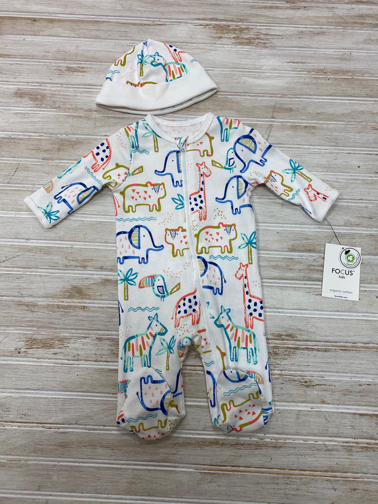 Safari Zippered Footie with Hat  - Doodlebug's Children's Boutique