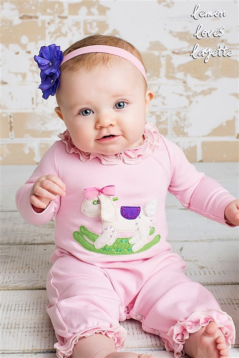 Lemon Loves Layette Rockabye Bunny Romper