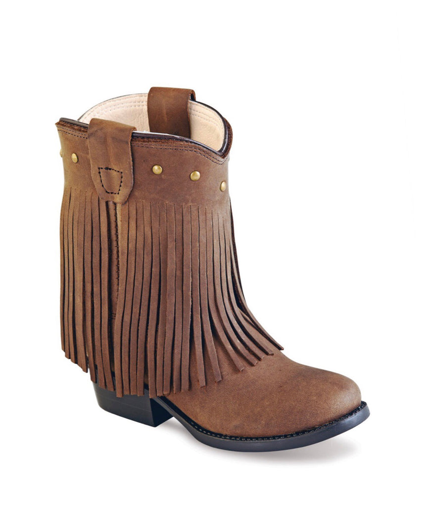 Old West Brown Fringe Toddler Boots