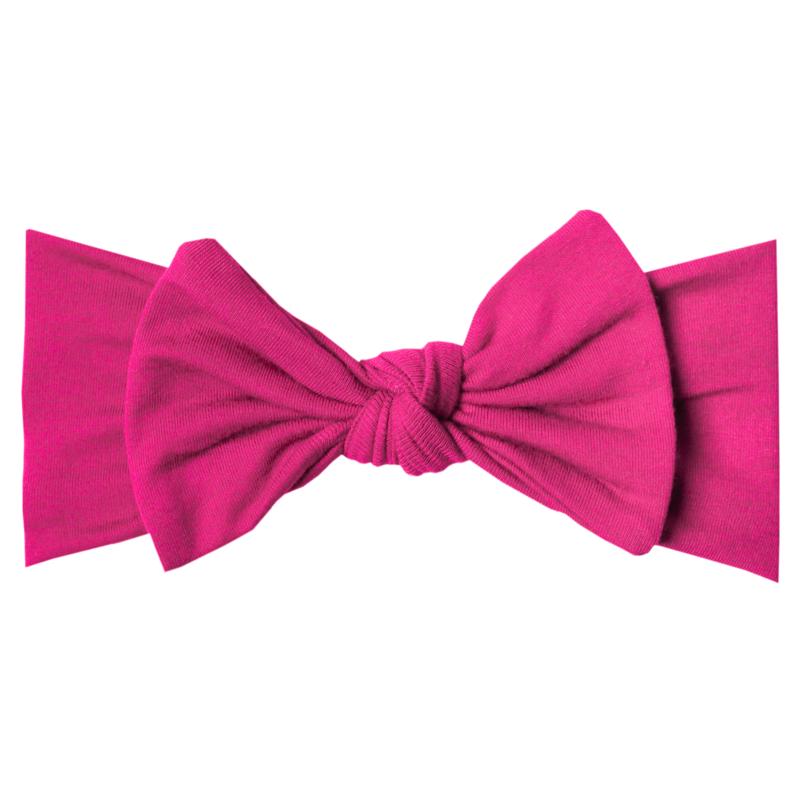 Berry Knit Headband Bow Berry - Doodlebug's Children's Boutique