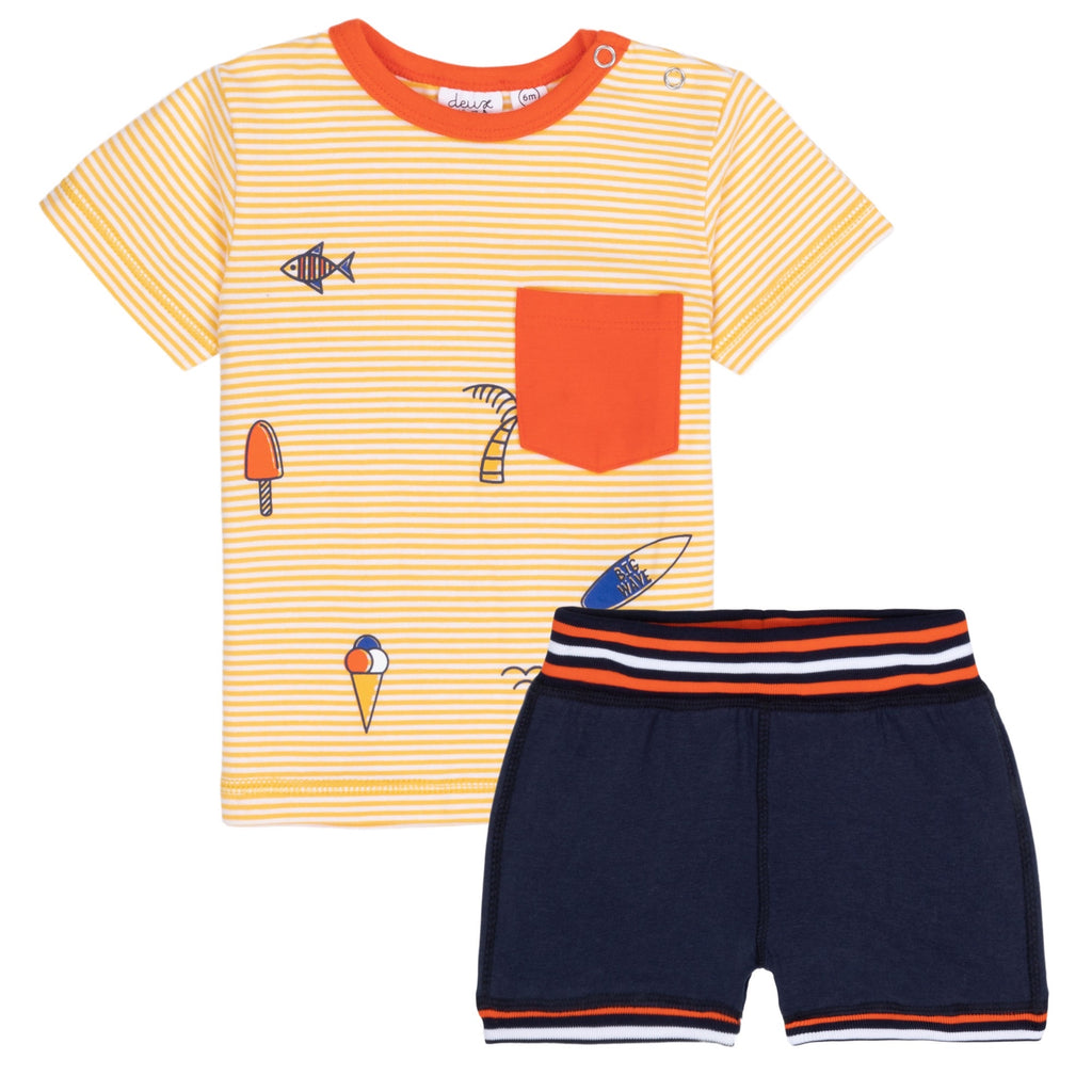 Deux Par Deux Summer Set  - Doodlebug's Children's Boutique