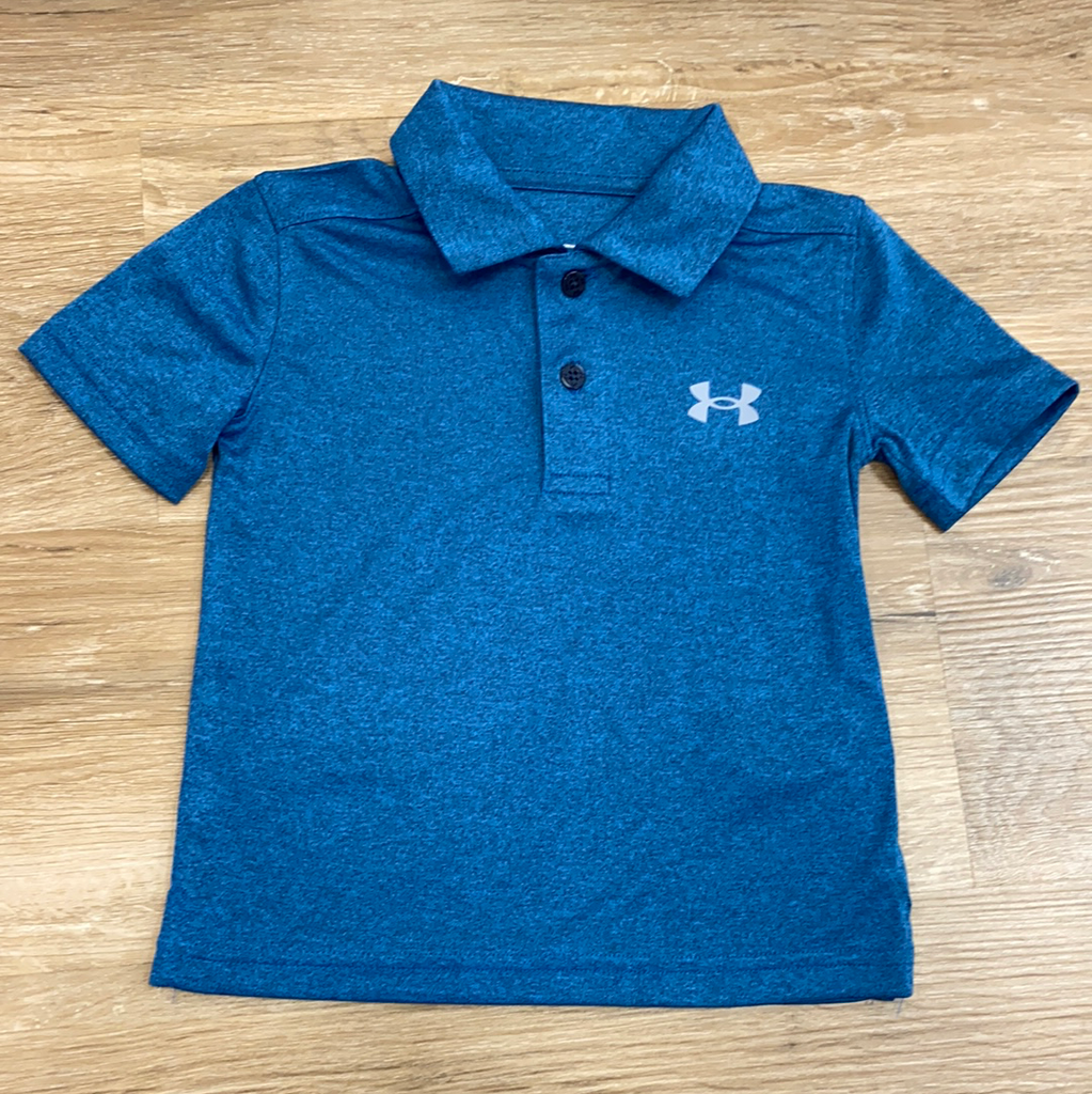 Performance Polo in Academy Blue  - Doodlebug's Children's Boutique