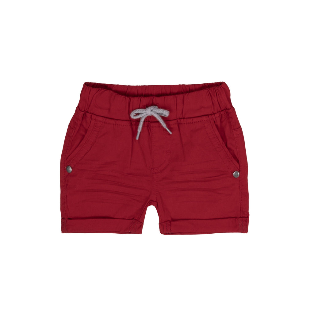 Red Stretch Twill Shorts  - Doodlebug's Children's Boutique