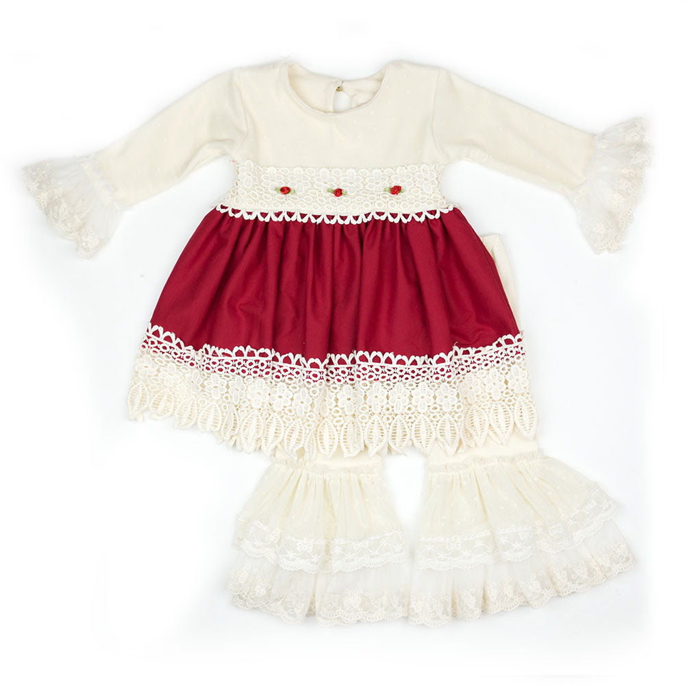 Haute Baby Tis the Season Dress and Leggings Set
