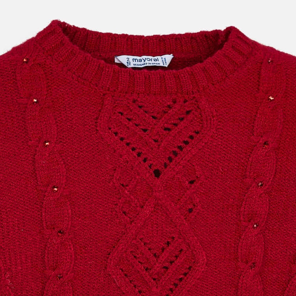 Red Knit Sweater  - Doodlebug's Children's Boutique