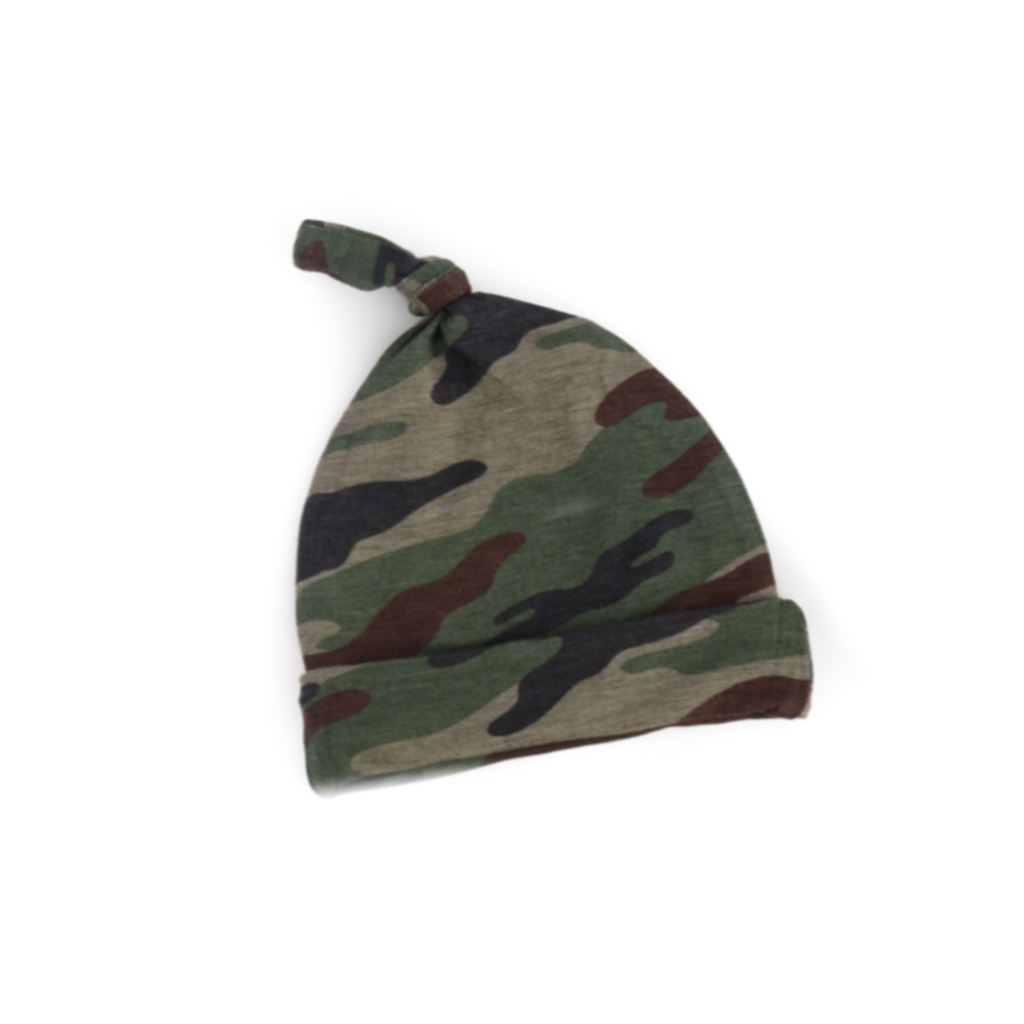 Camo Knotted Hat  - Doodlebug's Children's Boutique