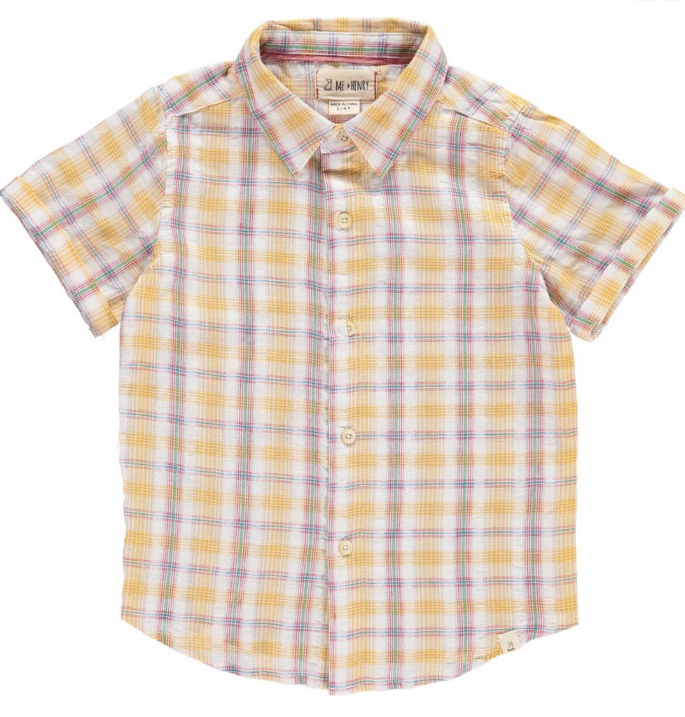 Me & Henry Yellow Plaid Woven Shirt