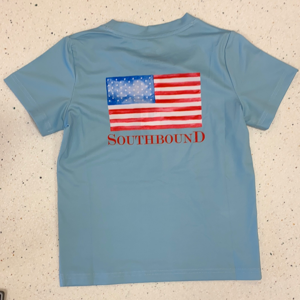 USA Flag Performance Tee  - Doodlebug's Children's Boutique