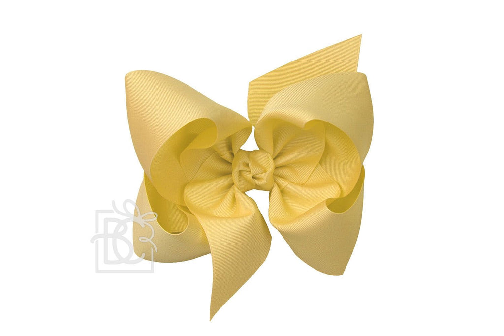 Texas Sized Bow in Lemonade  - Doodlebug's Children's Boutique