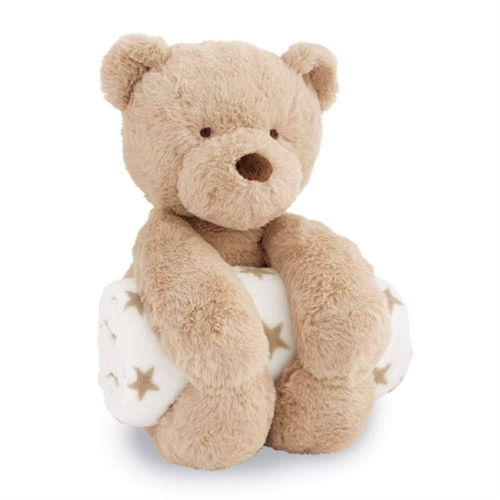 Bear Plush Toy with Blanket  - Doodlebug's Children's Boutique