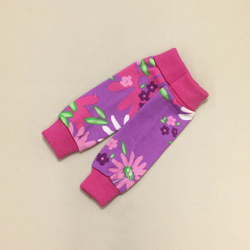Preemie Leg Warmers in Floral  - Doodlebug's Children's Boutique