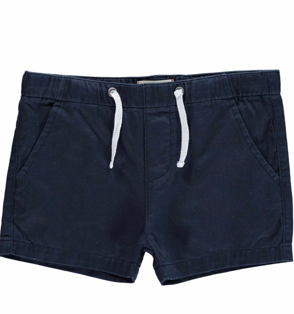 Me & Henry Woven Shorts Navy / 0 - 3 months - Doodlebug's Children's Boutique