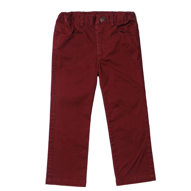 Fore Axel and Hudson Crimson Twill Pants