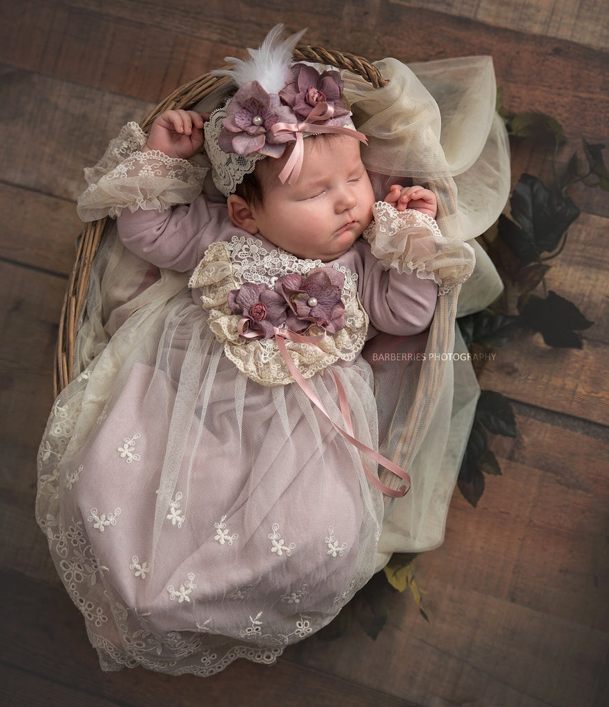 Frilly Frocks Anna Belle Gown  - Doodlebug's Children's Boutique