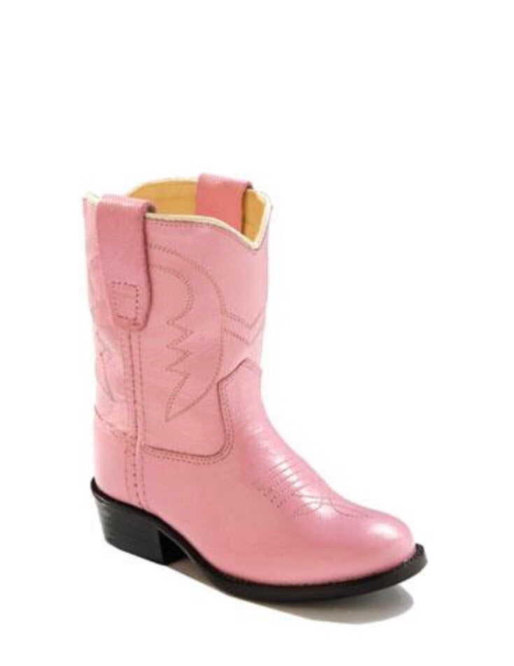 Old West Pink Classic Toddler Boot