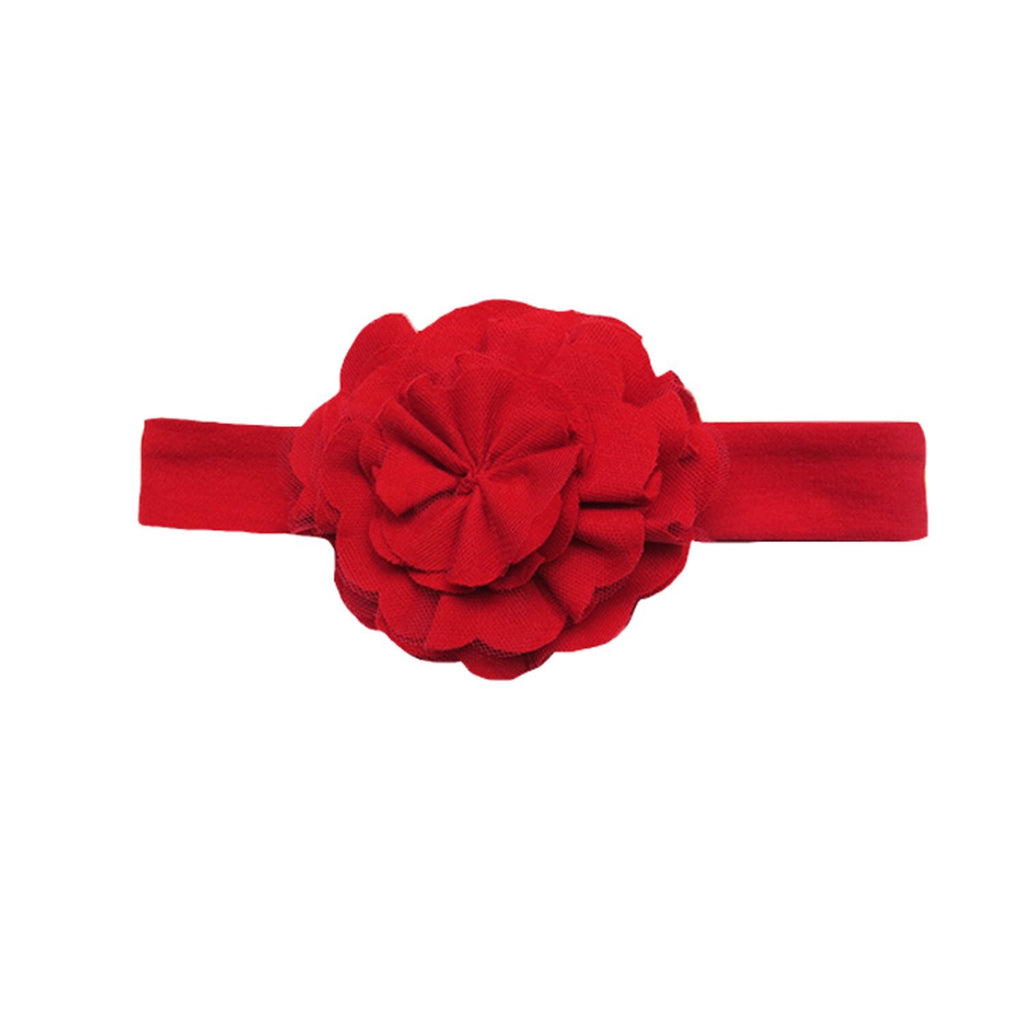 Lily Pad Headband in True Red True Red / XS - Doodlebug's Children's Boutique