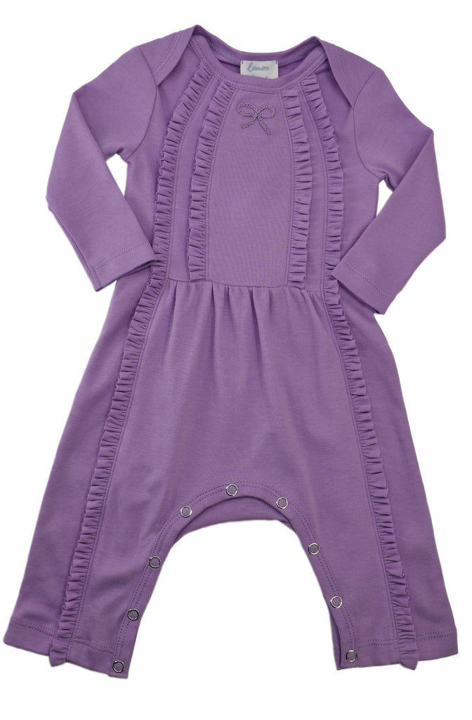 Lemon Loves Layette Victoria Romper Sheer Lilac / 0-3 months - Doodlebug's Children's Boutique