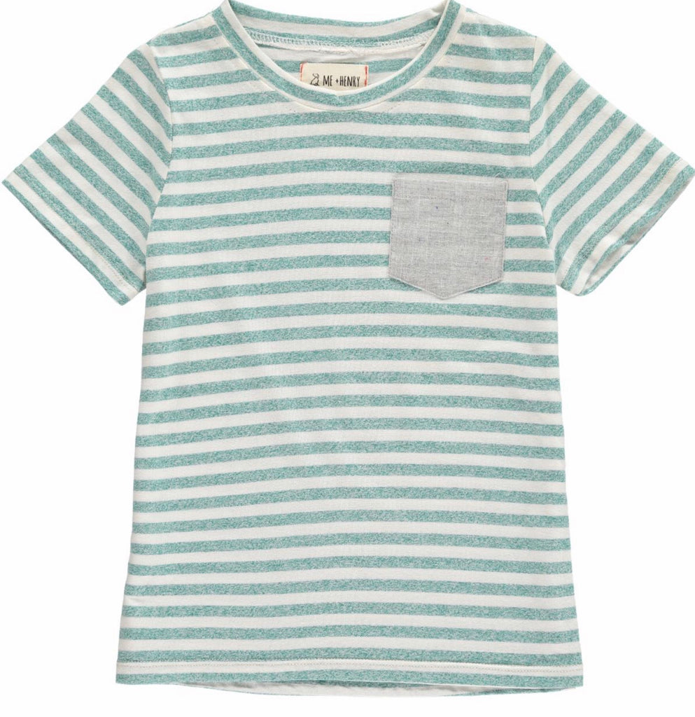 Me & Henry Green Striped Tee