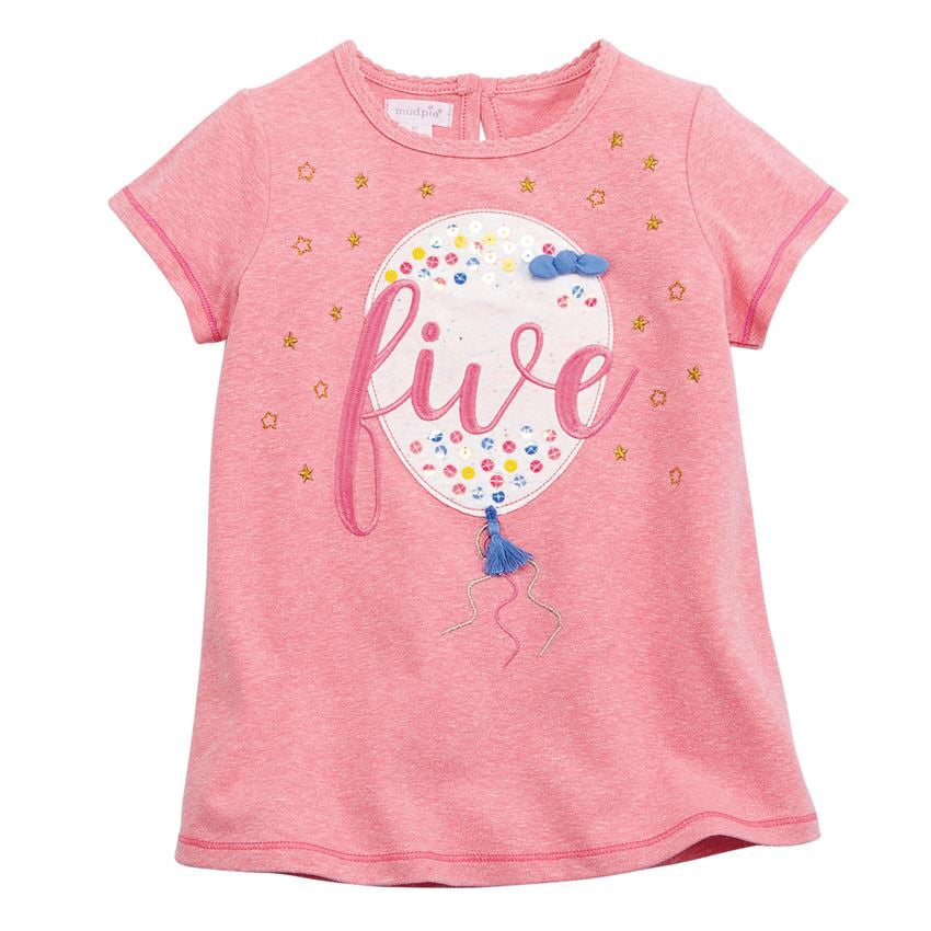 Five Birthday Tee Shirt  - Doodlebug's Children's Boutique