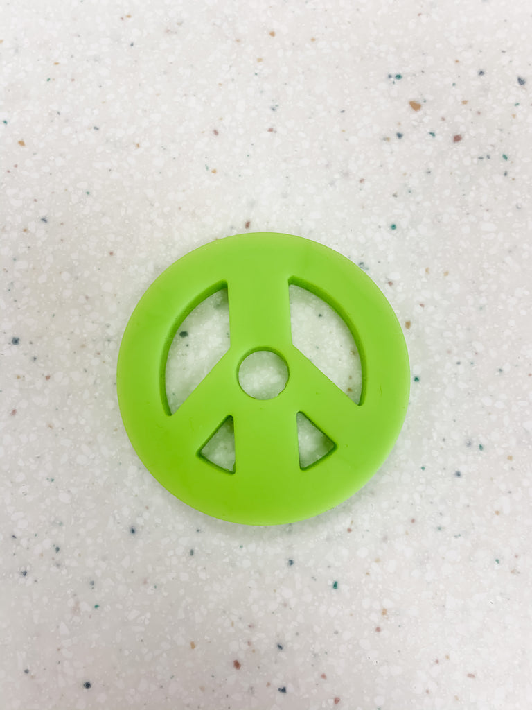 Stack and Play Teether Peace Sign  - Doodlebug's Children's Boutique