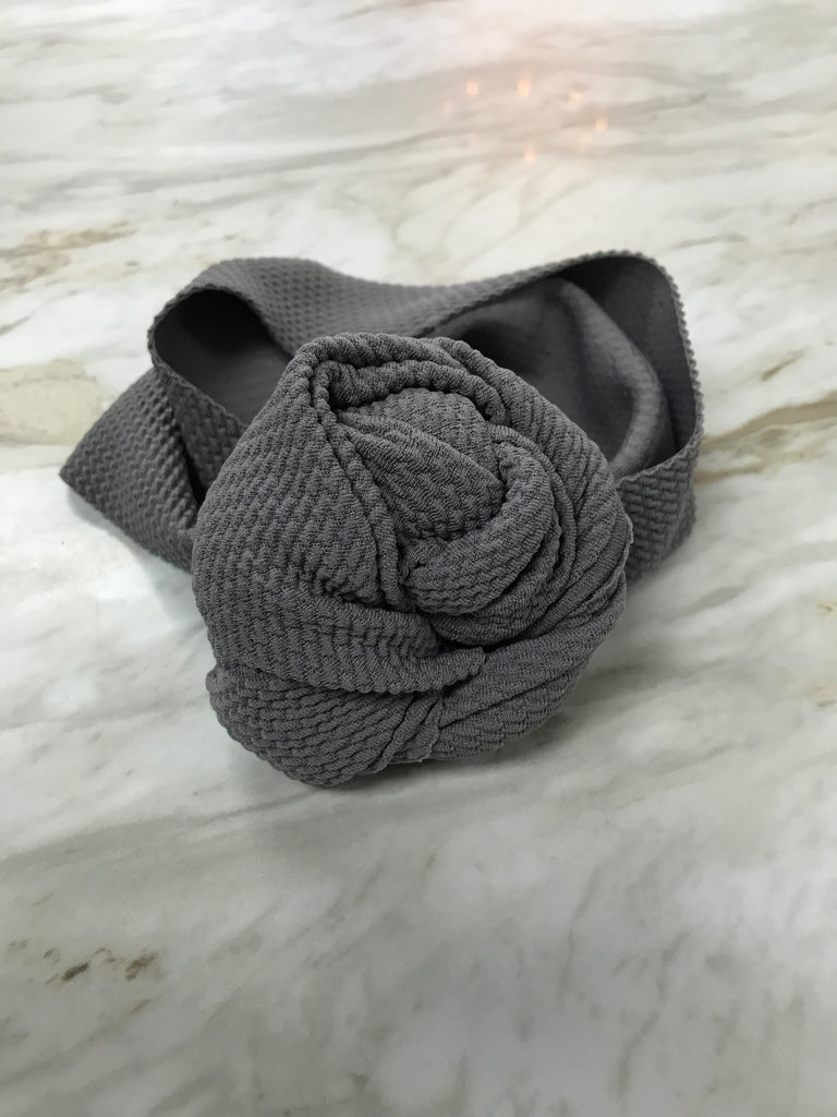 Grey Top Knot Headband Grey / Size 1 (newborn-6 months) - Doodlebug's Children's Boutique