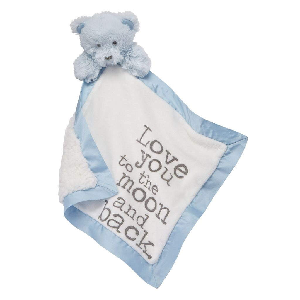 Bear Word Velour Woobie Bear / Love you to the moon and back - Doodlebug's Children's Boutique