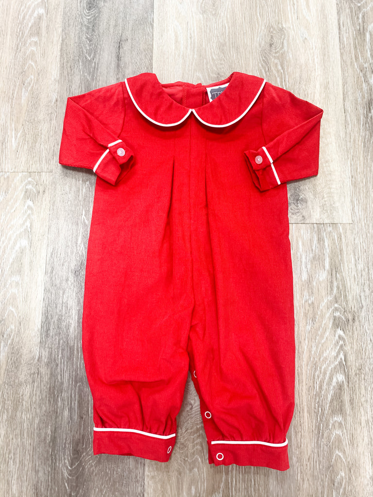 Red Cord Pleated Bubble  - Doodlebug's Children's Boutique