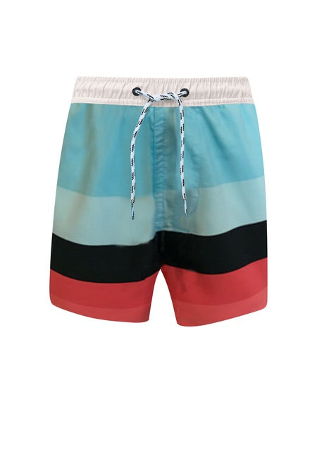 Boardies in Surf Stripe Surf Stripe / 2 (1-2 years) - Doodlebug's Children's Boutique