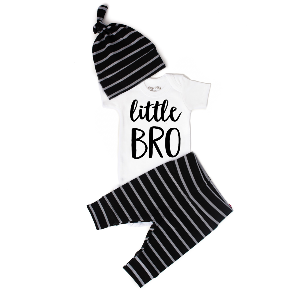 Little Bro Short Sleeved Onesie Set  - Doodlebug's Children's Boutique