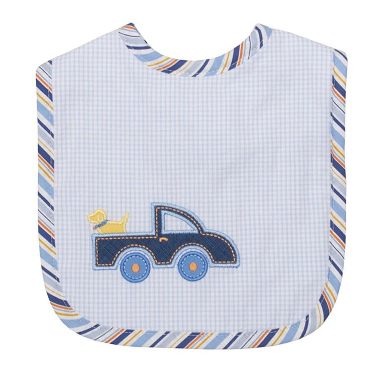 Little Truck Marthas Feeding Bib Little Truck - Doodlebug's Children's Boutique