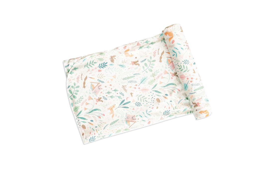 Angel Dear Woodland Floral Swaddle Blanket
