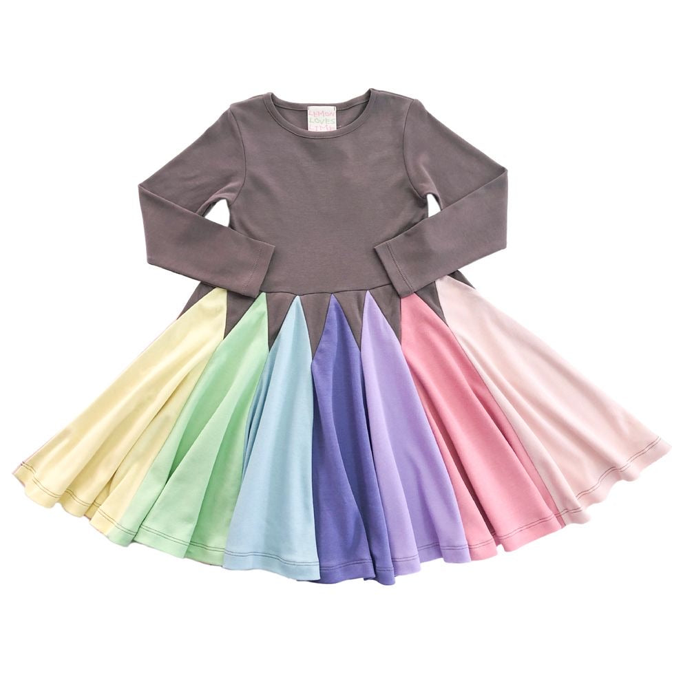 Pastel Crayon Twirl Dress  - Doodlebug's Children's Boutique